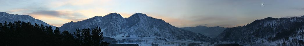 Wintermorgen stockfoto