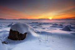 Wintermorgensonnenaufgang lizenzfreie stockfotografie
