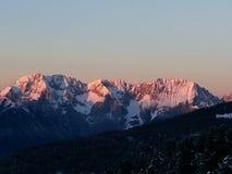 Wintermountains royalty-vrije stock afbeeldingen