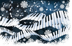 Wintermusikkarte Lizenzfreie Stockfotos