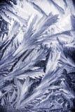 Wintermuster auf dem Fenster Stockbilder