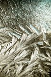 Wintermuster auf dem Fenster Lizenzfreie Stockbilder