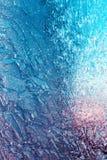 Wintermuster auf dem Fenster Lizenzfreies Stockbild