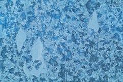 Wintermuster auf Glas Lizenzfreies Stockbild
