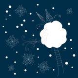 Winternacht Lizenzfreies Stockfoto