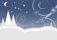 Winternacht Lizenzfreie Stockfotos