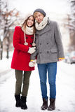 Winterpaare Lizenzfreie Stockbilder