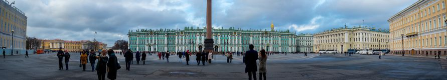 Winterpalast in St Petersburg stockfotografie