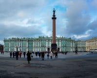 Winterpalast in St Petersburg stockfotos