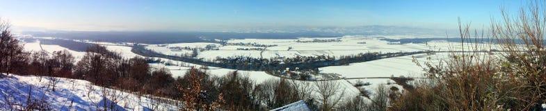 Winterpanorama Lizenzfreies Stockfoto