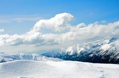 Winterpanorama von Bergen Stockbilder