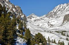Winterpanorama von Strbske Pleso Stockbild