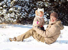 Winterpark Stockfotos