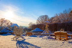 Winterpark in Oliwa Lizenzfreies Stockbild