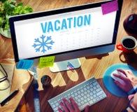 Winterpause-Feiertags-Ferien-Konzept Lizenzfreie Stockfotos