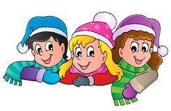 Winterpersonen-Karikaturbild   Stockbilder