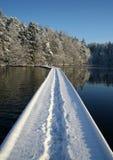 Winterpfad lizenzfreies stockbild