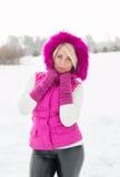 Winterporträt des sexy Mädchens Lizenzfreies Stockbild