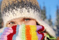 Winterportrait Stockfoto