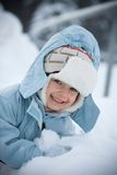 Winterportrait Stockbild