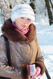 Winterportrait stockbilder