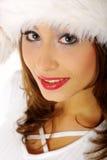 Winterportraitfrau Lizenzfreie Stockfotografie