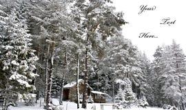 Winterpostkarte Stockfotografie