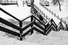Winterrückkehr: Zickzack lizenzfreie stockfotografie