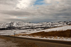 Winterreisen Stockbild