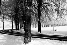 Winterroad Stockfoto