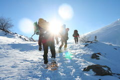 Winters hike Stock Photo