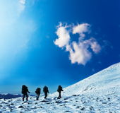 Winters hike Royalty Free Stock Photography