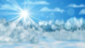 Winters landschap uit nadruk Stock Afbeelding
