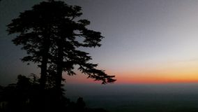 Winters in mussoorie royalty free stock image