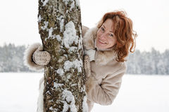 Winters portrait Stock Image
