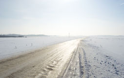 Winters road Stock Image