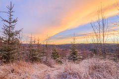 Winters sundown Royalty Free Stock Photography