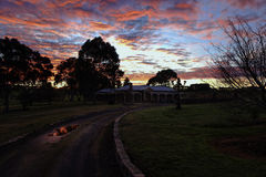 Winters sunrise. On a rural property in Victoria Australia Royalty Free Stock Photo