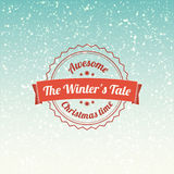 The winters tale - christmas badge and label. Snowflakes background Stock Images