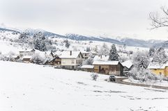 Wintersaison in Bulgarien Stockfoto