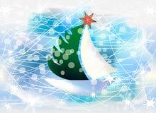 Wintersaisongrußkarte Stockbilder
