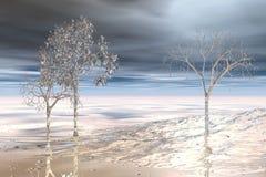 Winterscape fotografie stock