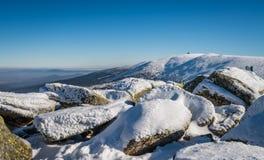 Winterscape delle montagne di Karkonosze Fotografia Stock Libera da Diritti