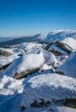 Winterscape delle montagne di Karkonosze Immagini Stock Libere da Diritti
