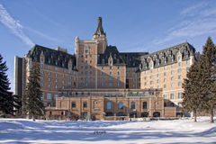 Winterscape des Hotels Bessborough Lizenzfreie Stockfotografie