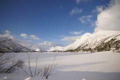 Winterscapes Norwegen stockbilder