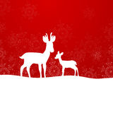 Winterscene - κάρτα Χριστουγέννων Στοκ Εικόνα