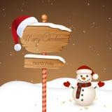Winterscene - christmas card Stock Photo