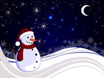 Winterscene - christmas card Stock Photography