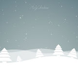 Winterscene - christmas card Stock Image